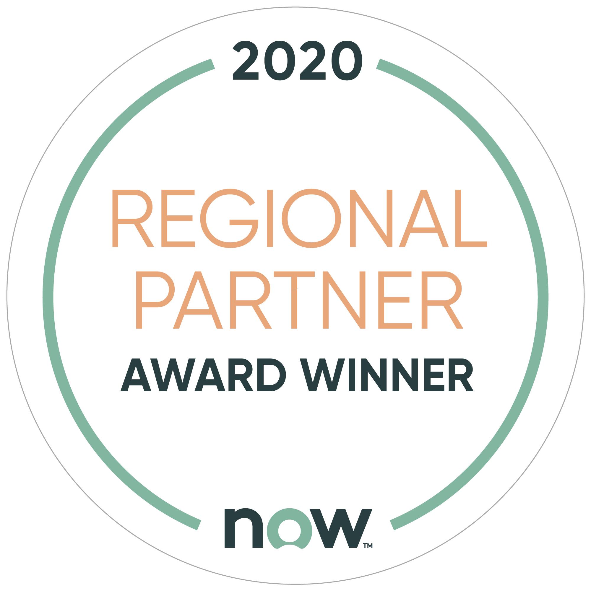 ServiceNow 2020 Regional Partner Award Winner