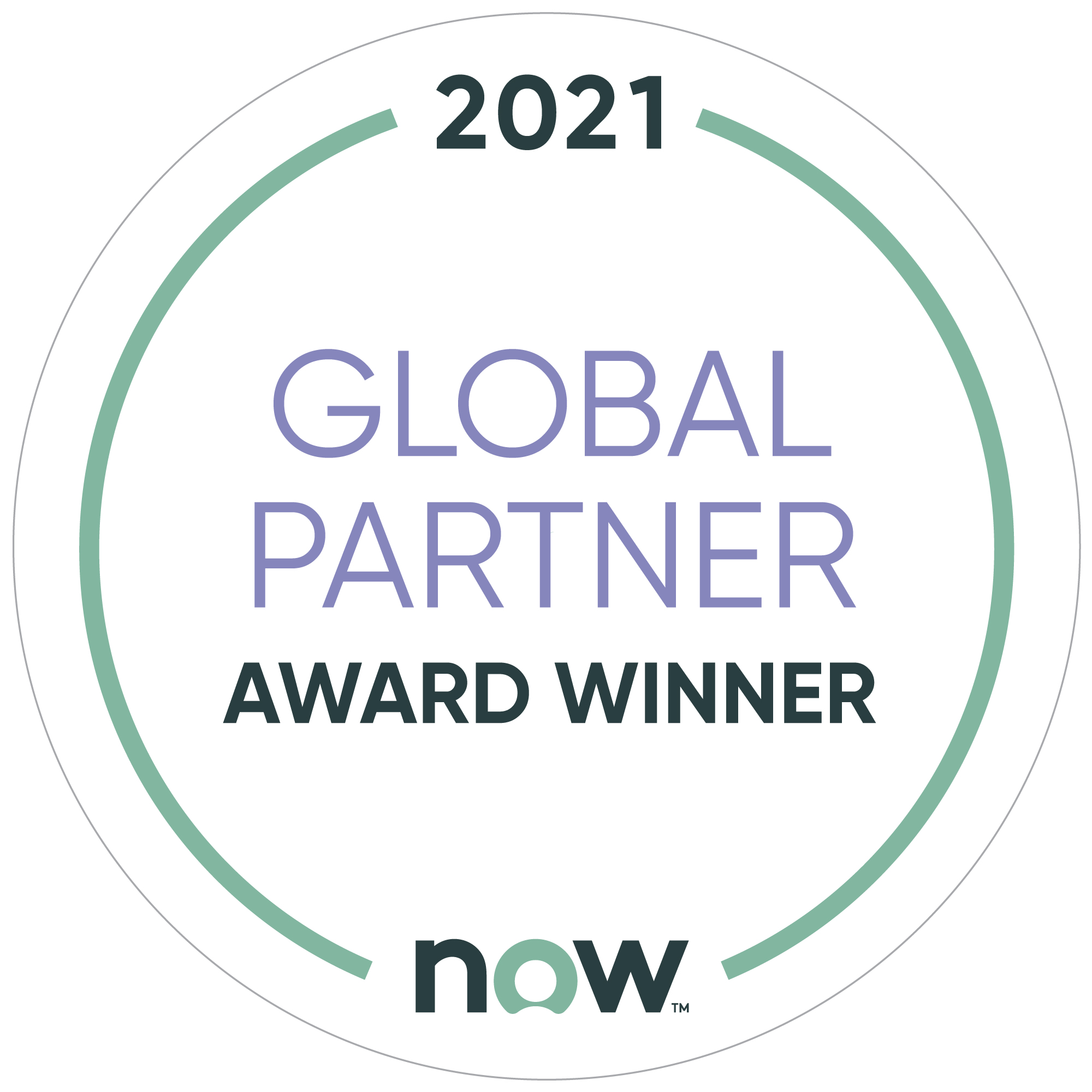 ServiceNow 2021 Global Partner Award Winner
